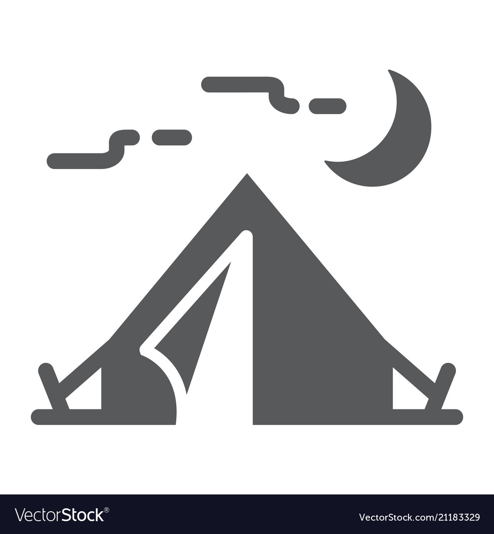 Tourist tent glyph icon travel and tourism