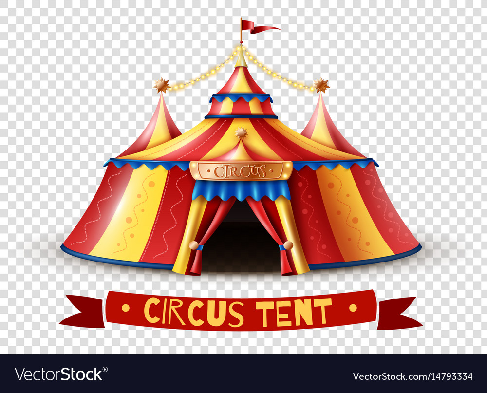 sc 1 st  VectorStock & Circus tent transparent background image Vector Image