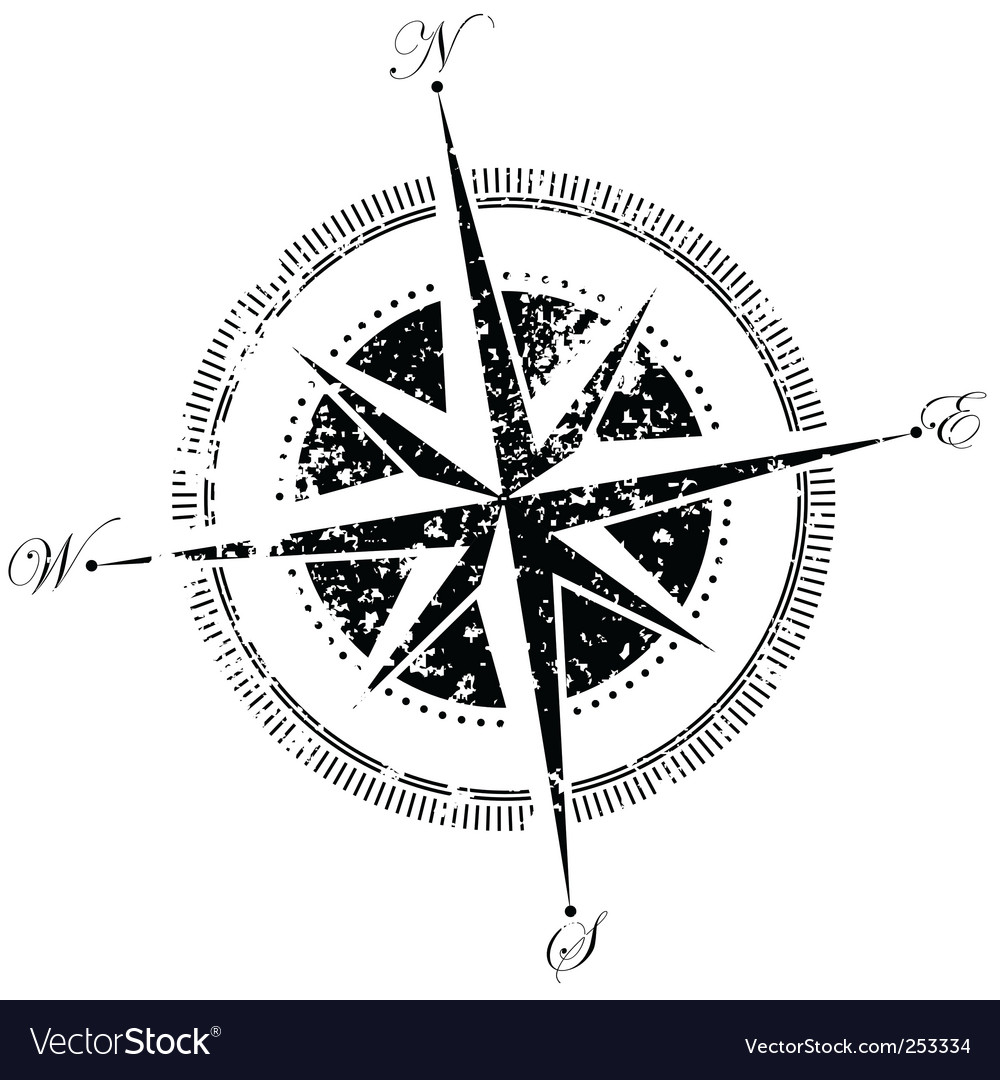 compass royalty free vector image vectorstock rh vectorstock com compass vector free download nautical compass vector