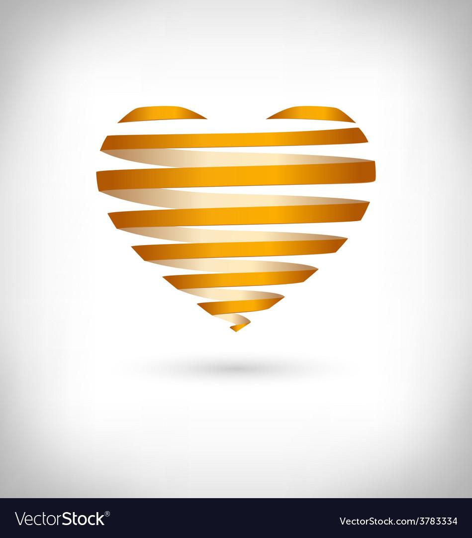 Golden Spiral heart on grayscale