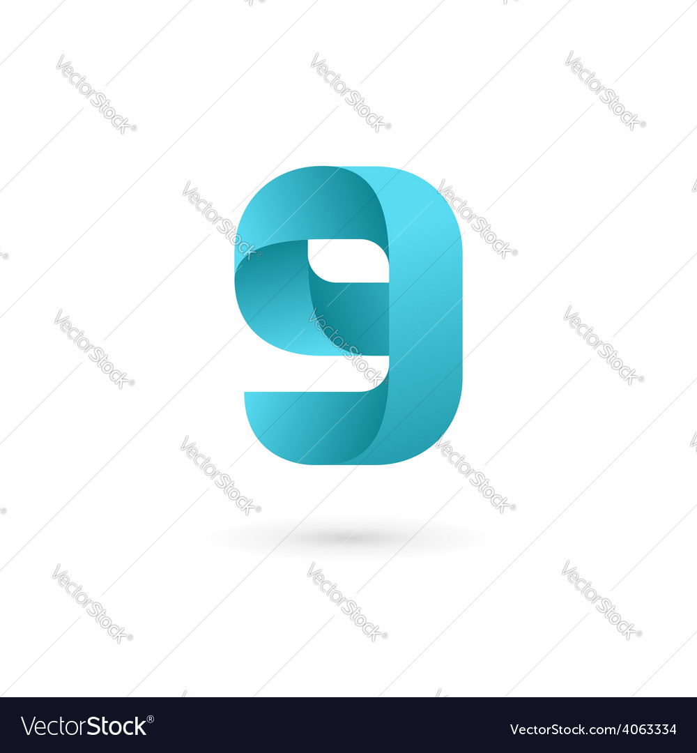 Letter g number 9 logo icon design template vector image maxwellsz