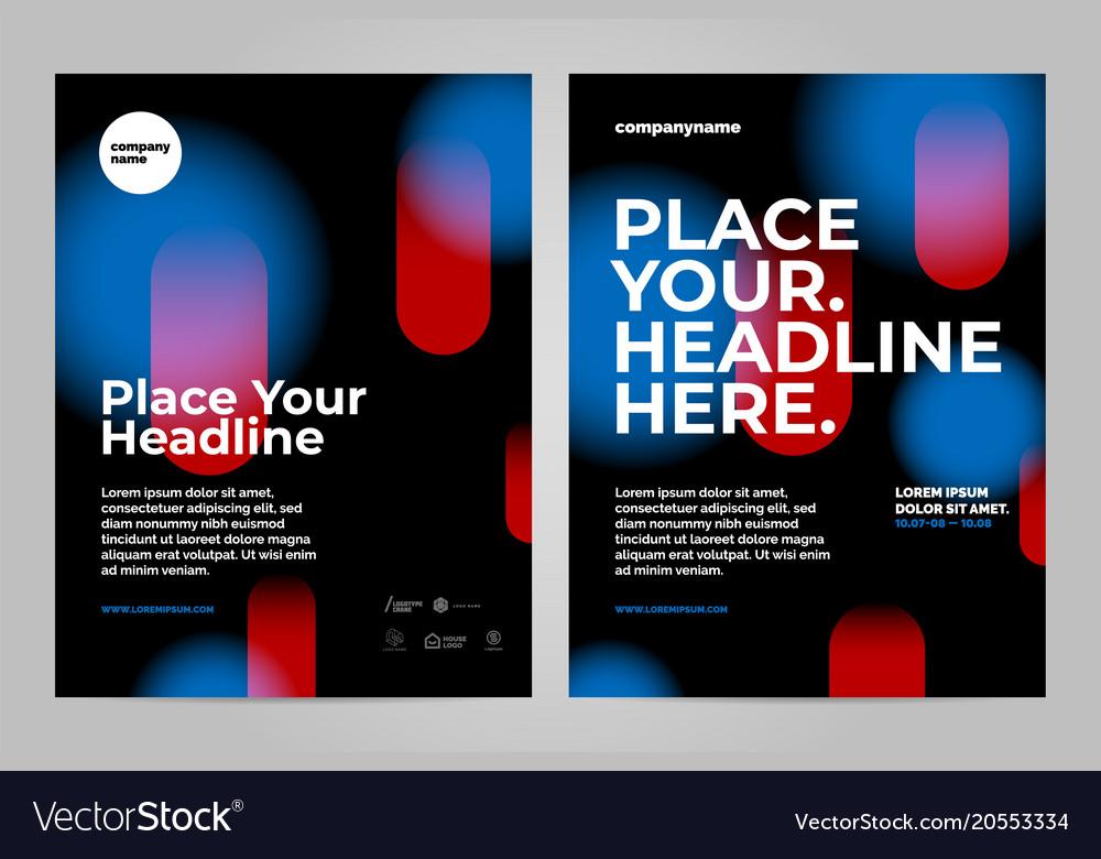 Minimal poster template design