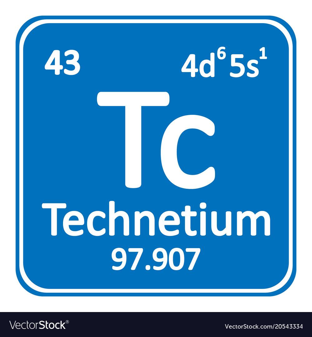 Periodic table element technetium icon royalty free vector periodic table element technetium icon vector image urtaz Images