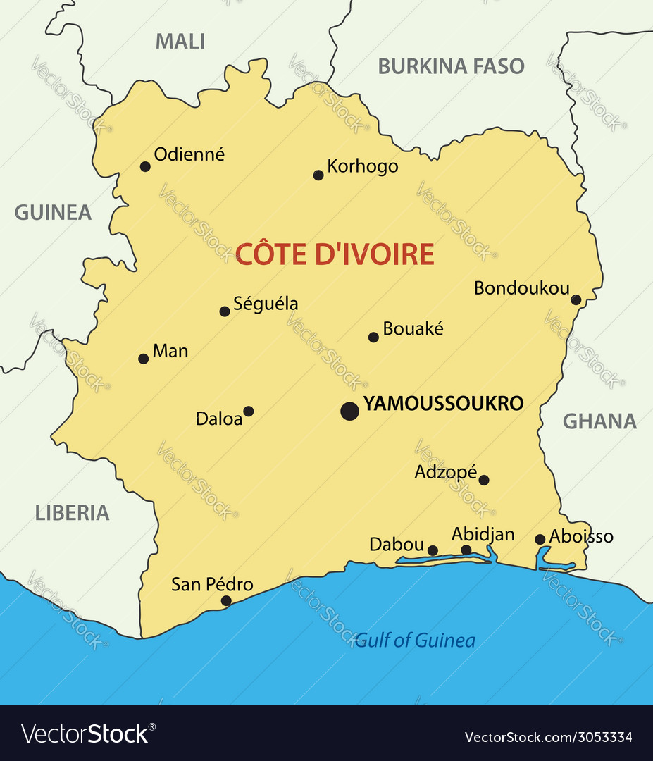 Republic - Ivory Coast - map on daloa ivory coast map, san pedro ivory coast map, abobo ivory coast map, africa ivory coast map, bouake ivory coast map, abidjan ivory coast map,