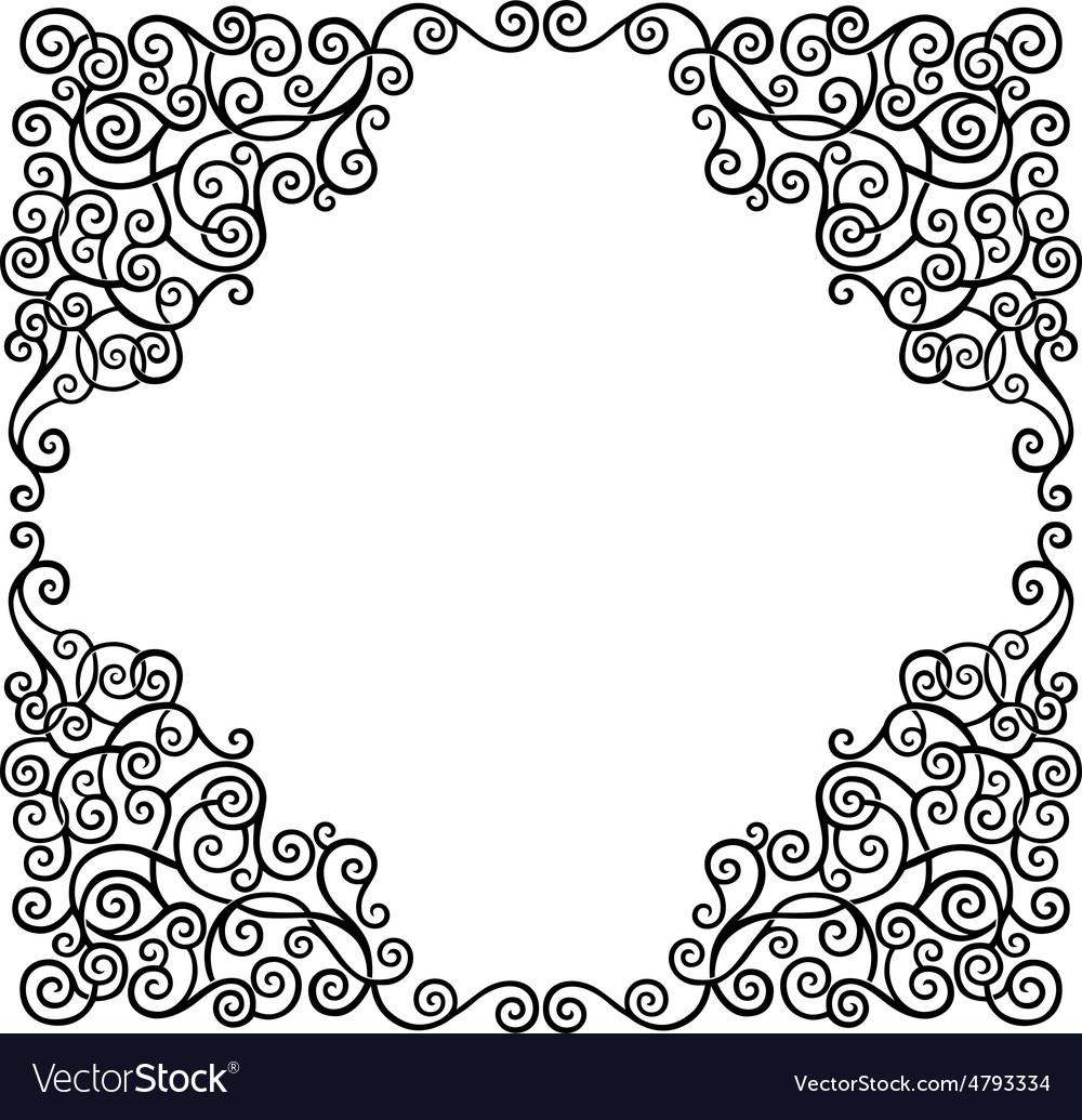 scroll border royalty free vector image vectorstock