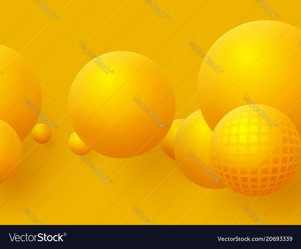 Abstract floating spheres background