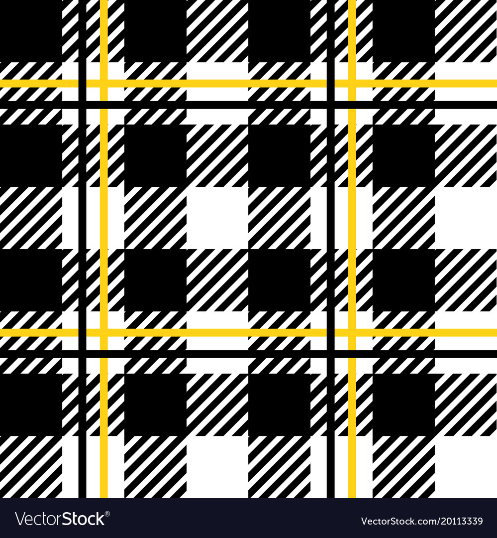 Black And White Tartan Plaid Seamless Pattern Vector Image