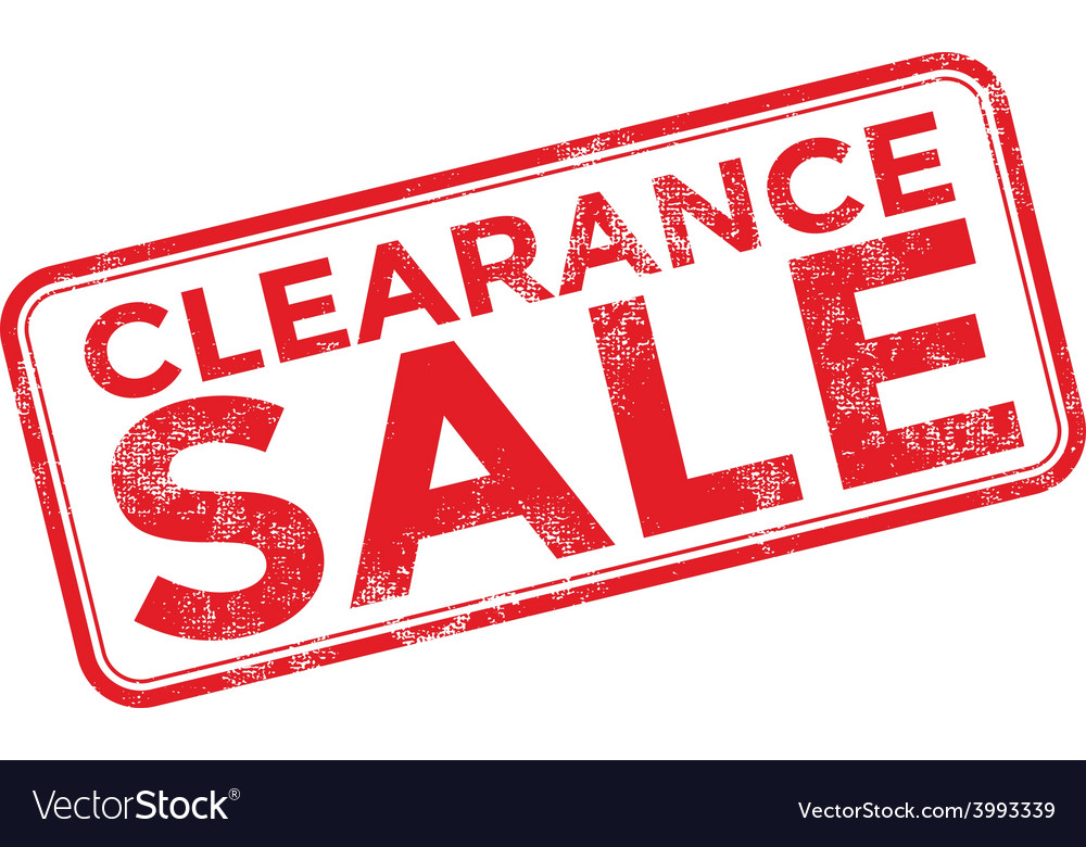 Clearance sale grunge rubber stamp on white