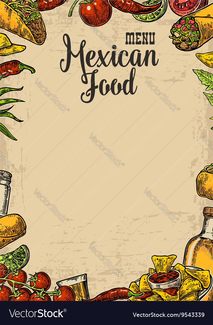 Mexican Food Menu Design