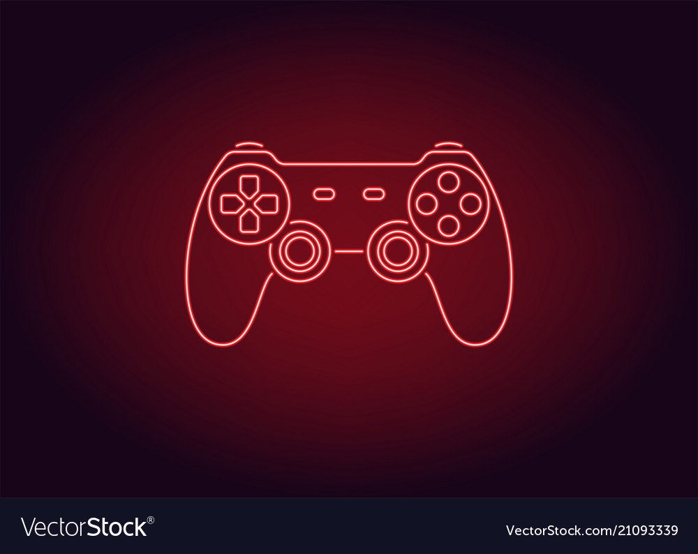 Neon Icon Of Red Joystick Royalty Free Vector Image