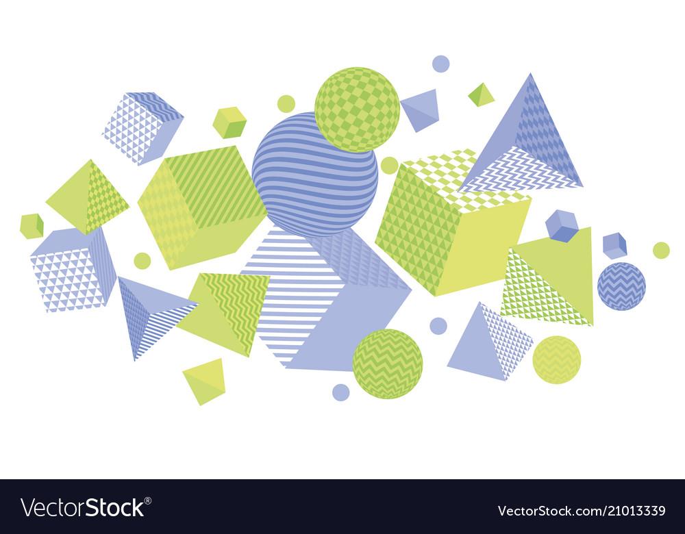 Pale color geometric design element