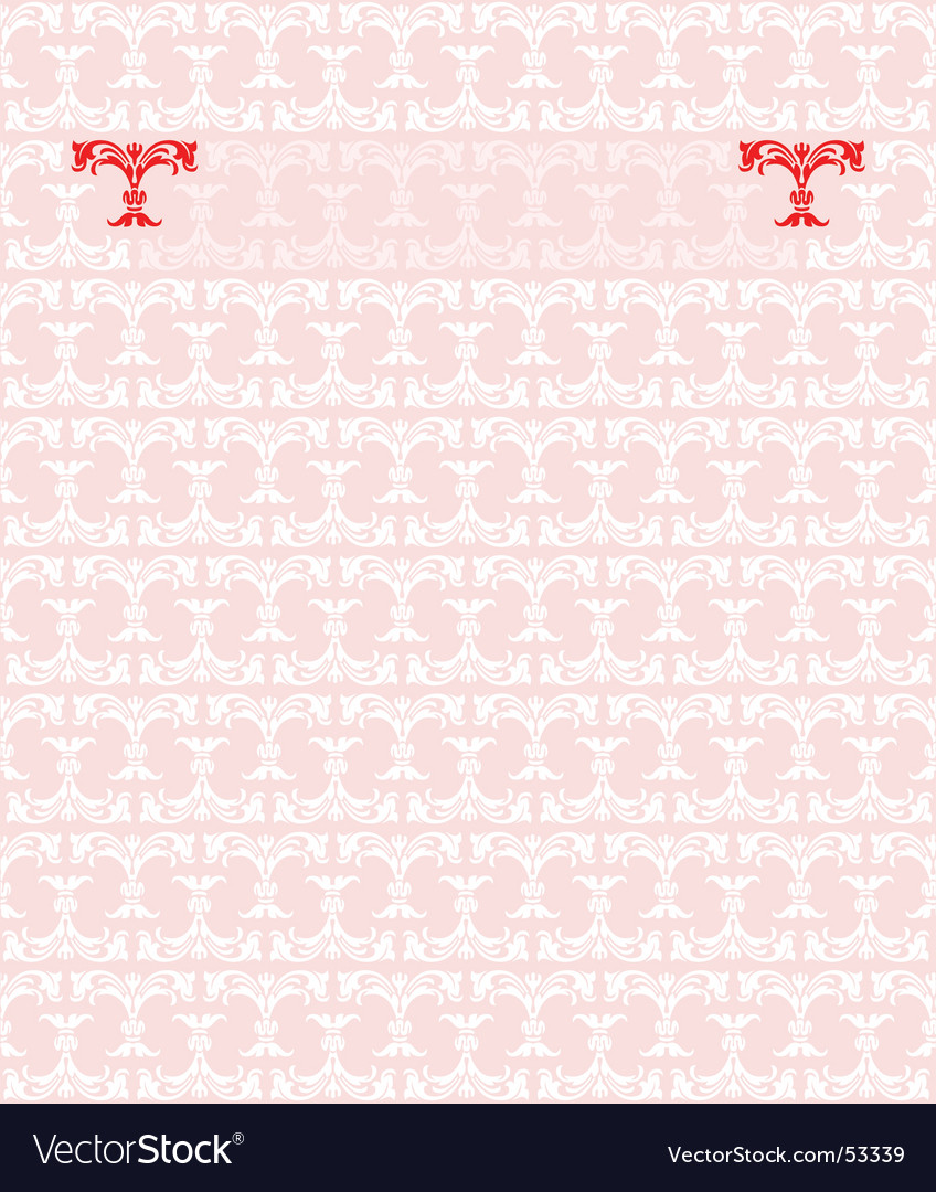 Red pink fashion plate background vector image