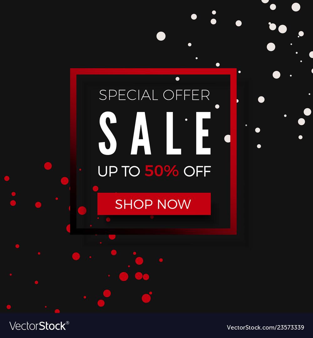 Sale special offer promo banner design template