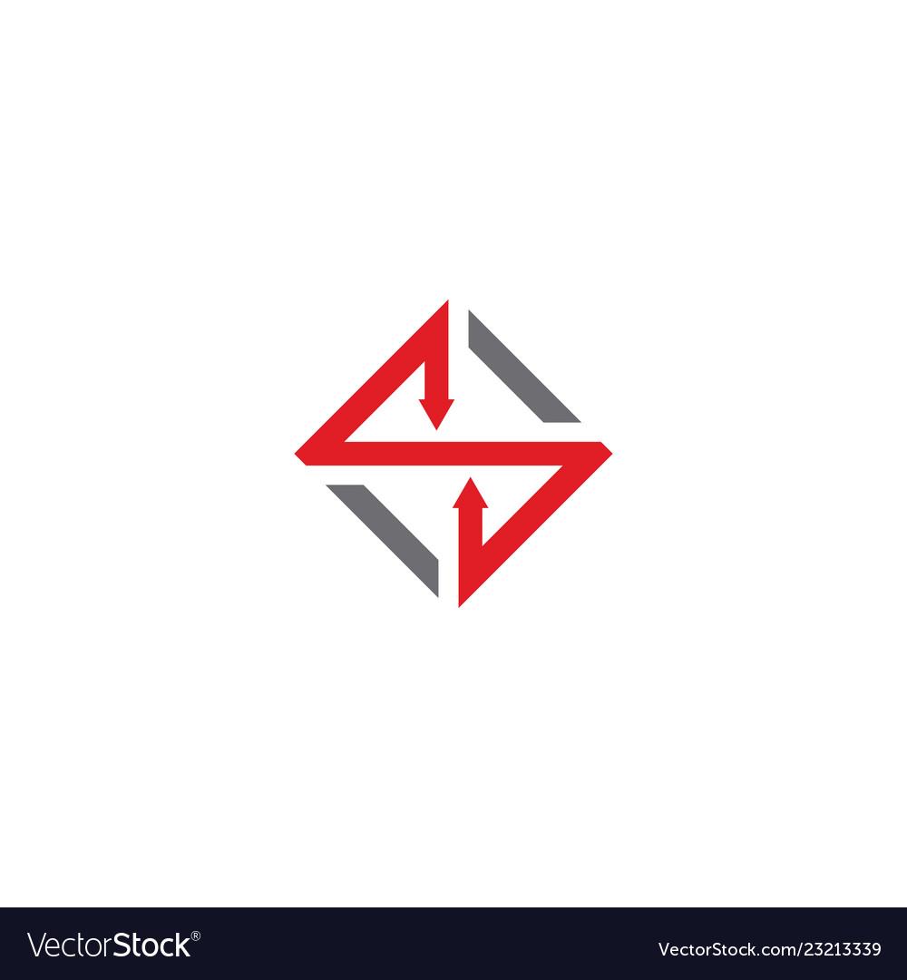 Square arrow business logo