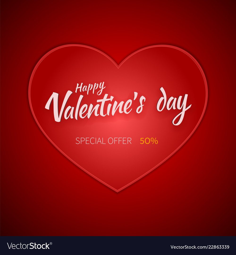 Valentines Day Flyer Special Sale Offer Royalty Free Vector