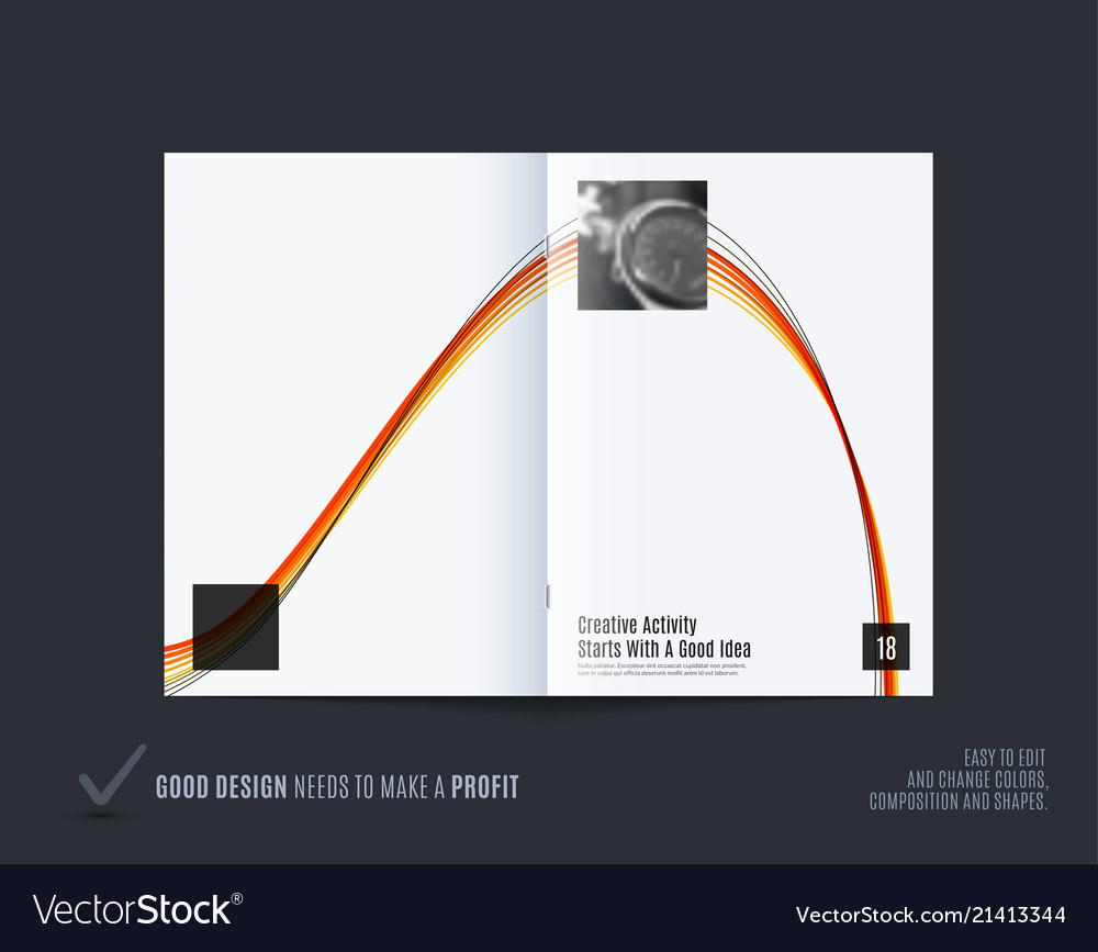 Abstract double-page brochure design soft style