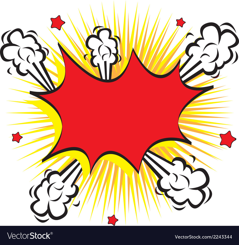 Bubble comic vector image