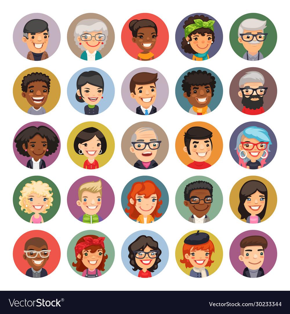 Cartoon people avatars collection