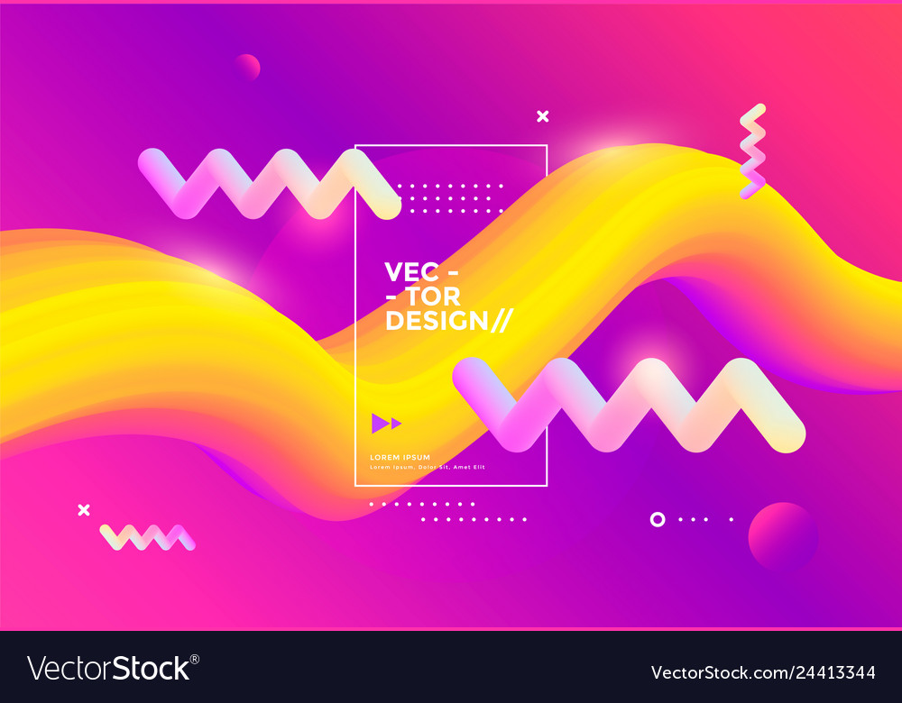 Creative design 3d flow shape liquid wave
