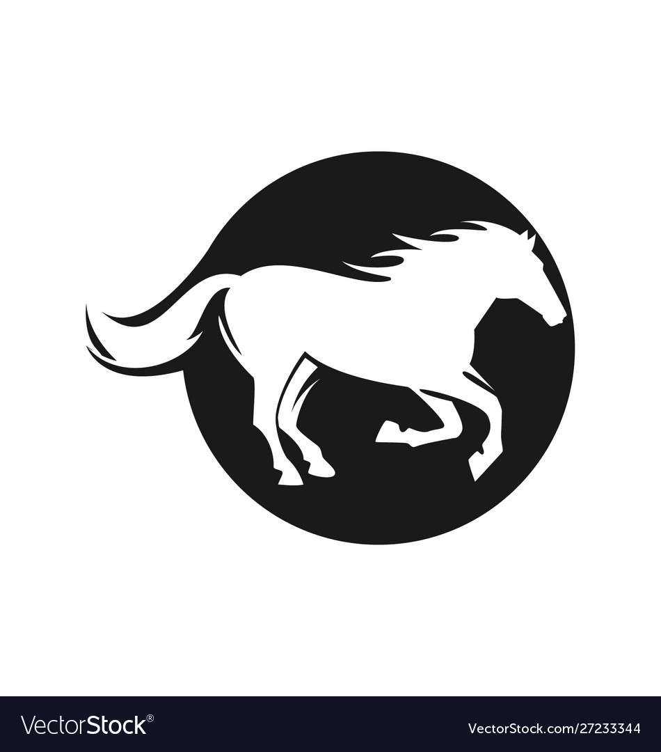 Fast speed horse logo horse icon vector image