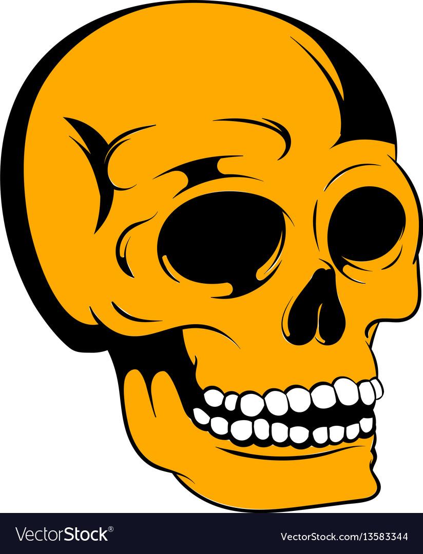Human skull icon icon cartoon