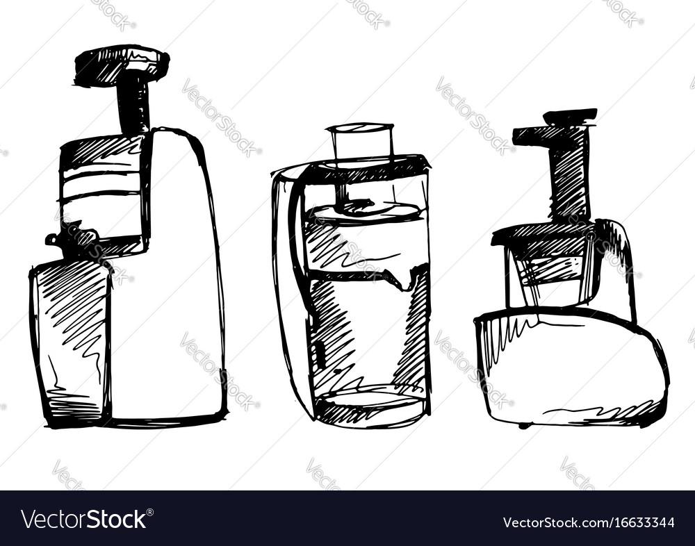 Juicer sketch squeezer doodle