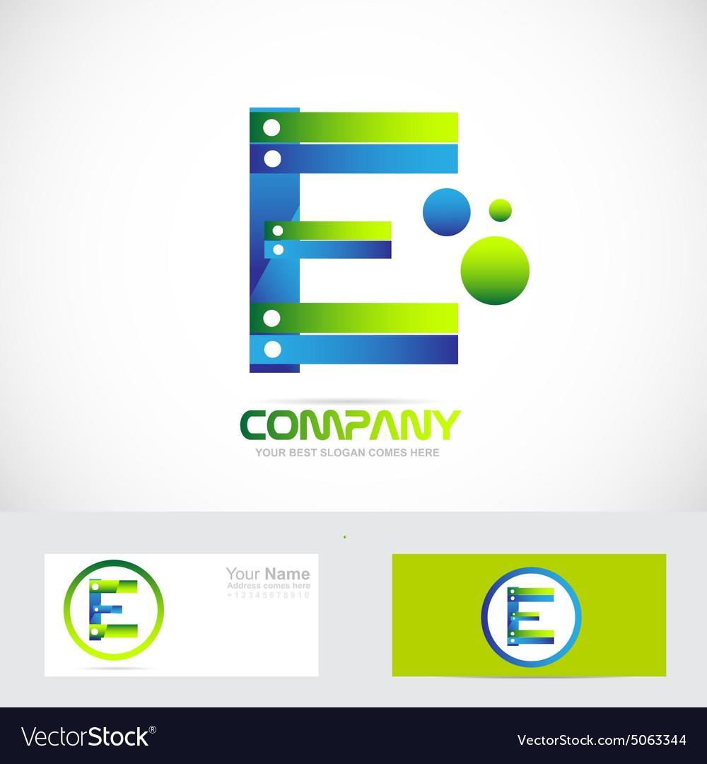 Letter E logo concept 3d
