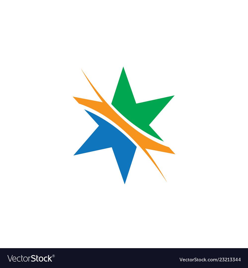 Star abstract logo