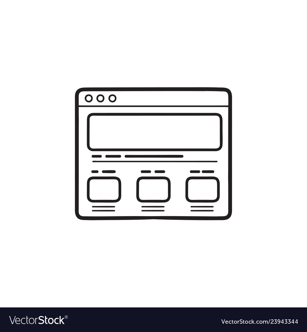 Web page design hand drawn outline doodle icon
