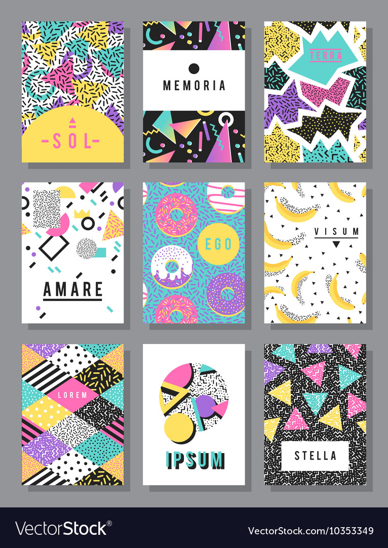 Abstract layout design vector image