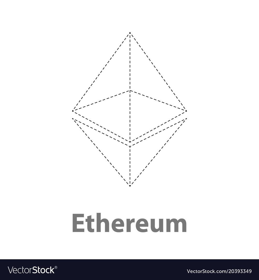 Ethereum thin symbol chrystal