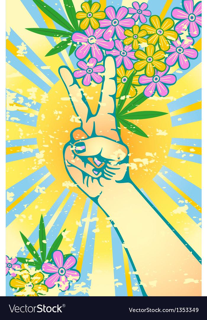 Flower power vector image