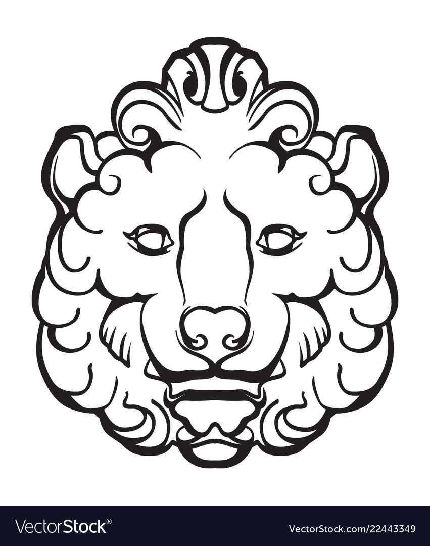 Gothic lion head
