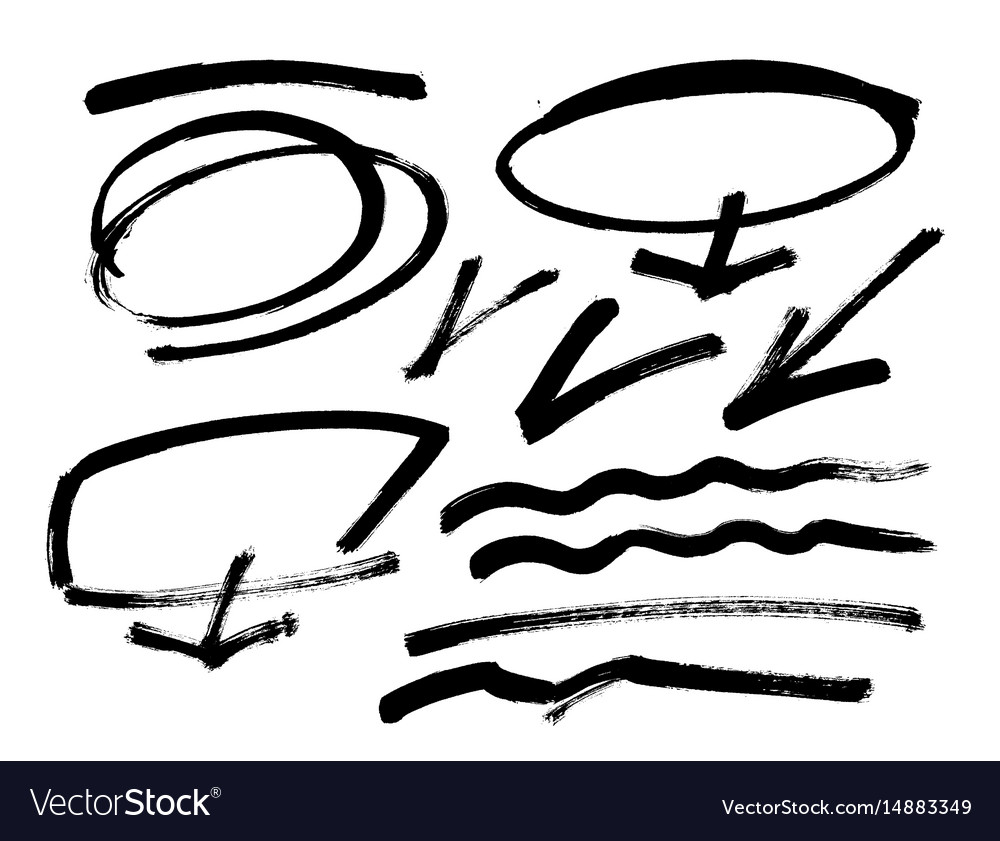 grunge brush stroke different grunge royalty free vector rh vectorstock com grunge vector free grunge vector tutorial