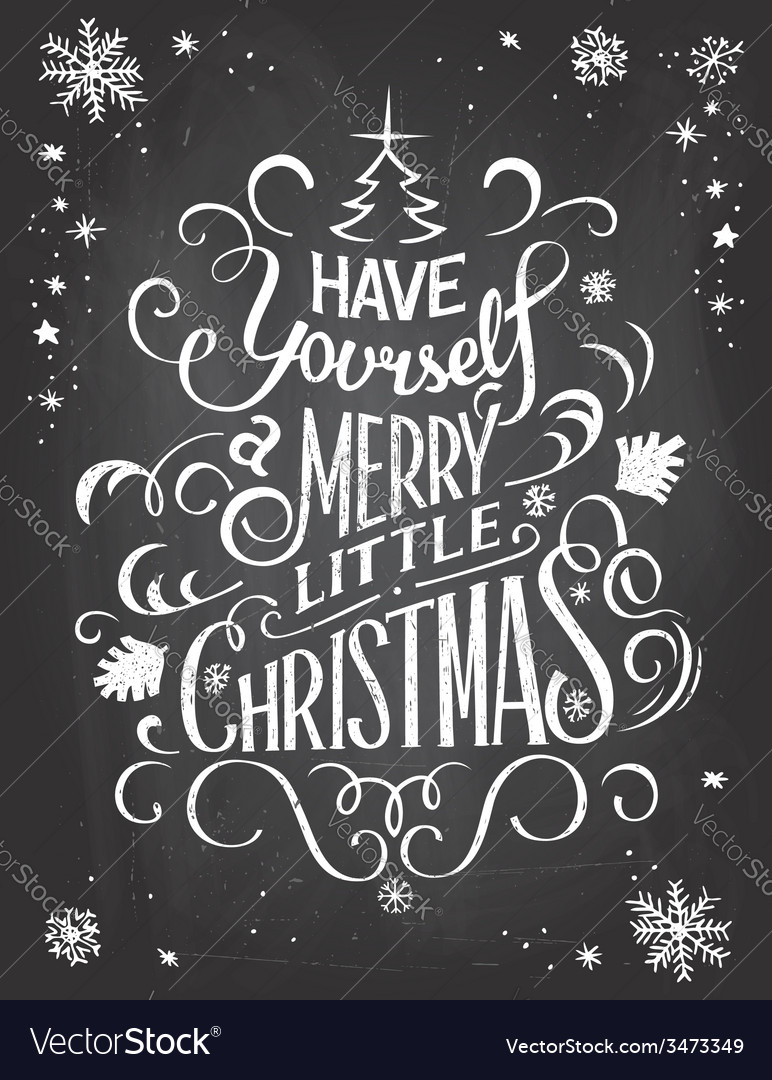 Have yourself Christmas chalkboard