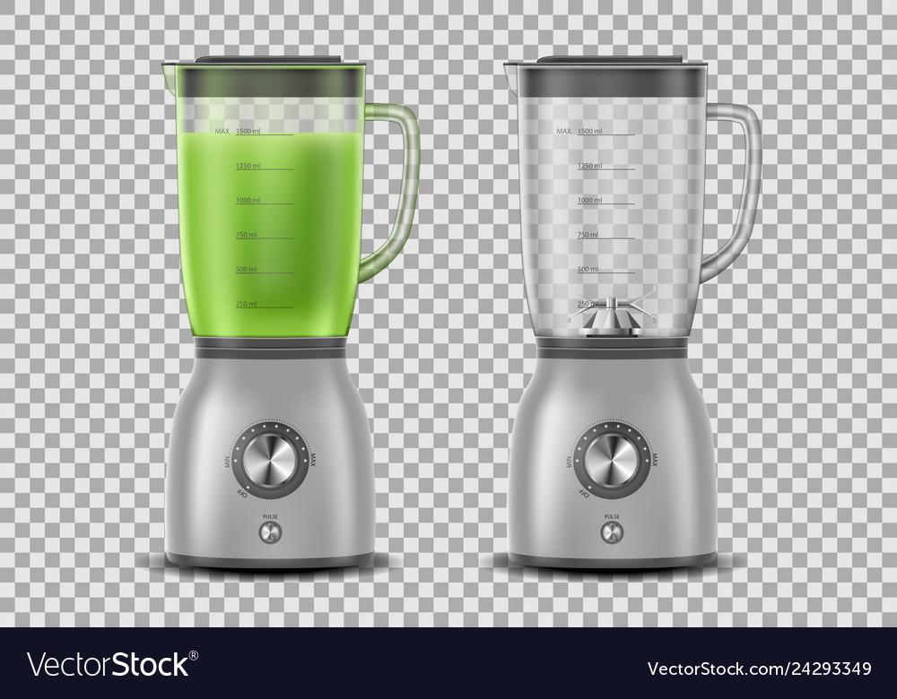 Set of realistic juicer blender kitchen blender