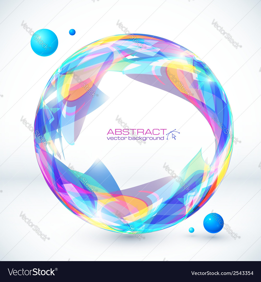 Abstract colorful sphere image