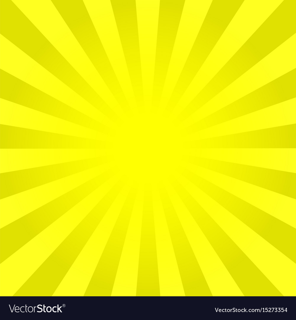 Bright Yellow Rays Background Vector Image