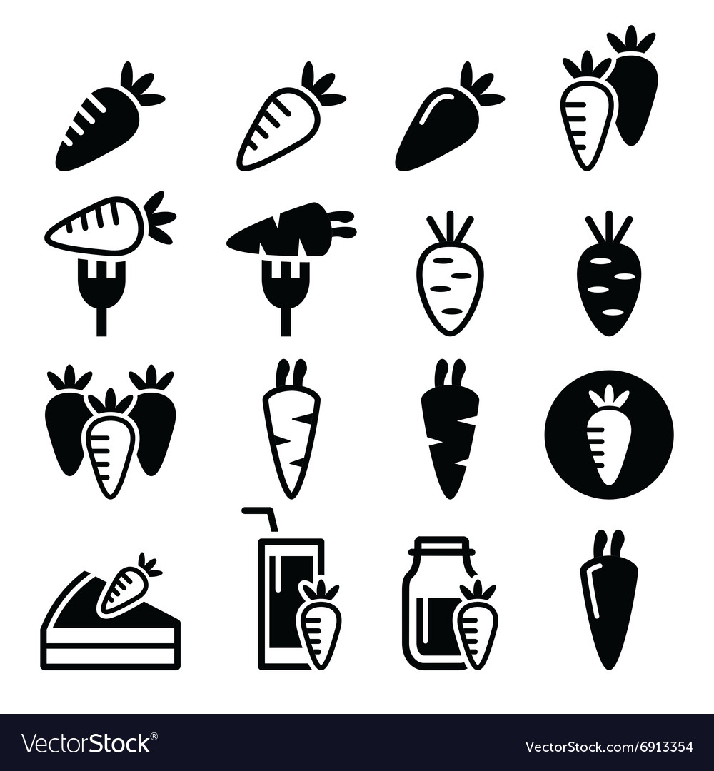 Carrot carrot meals - cake juice icons