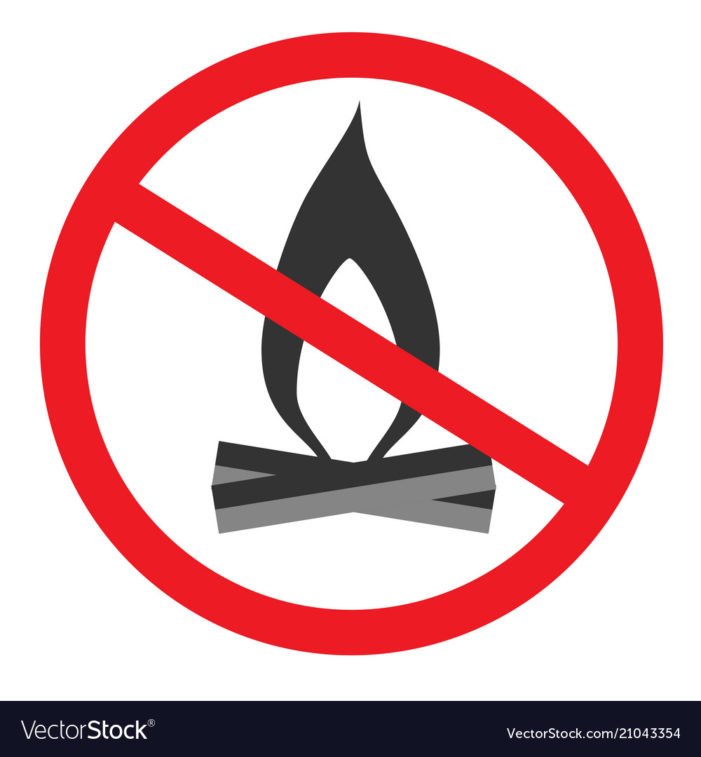 No open flame sign no fire no access with open