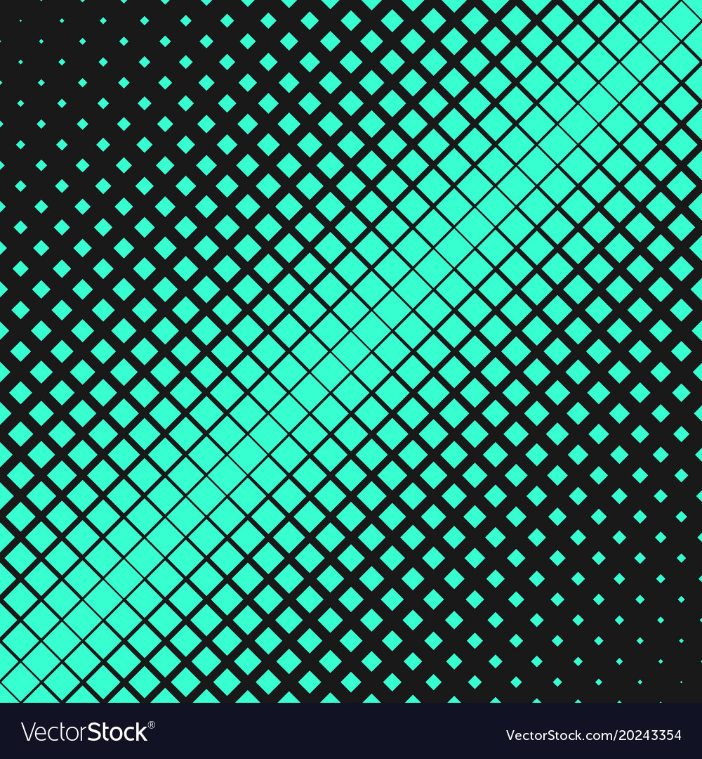 Retro abstract halftone square pattern background vector image