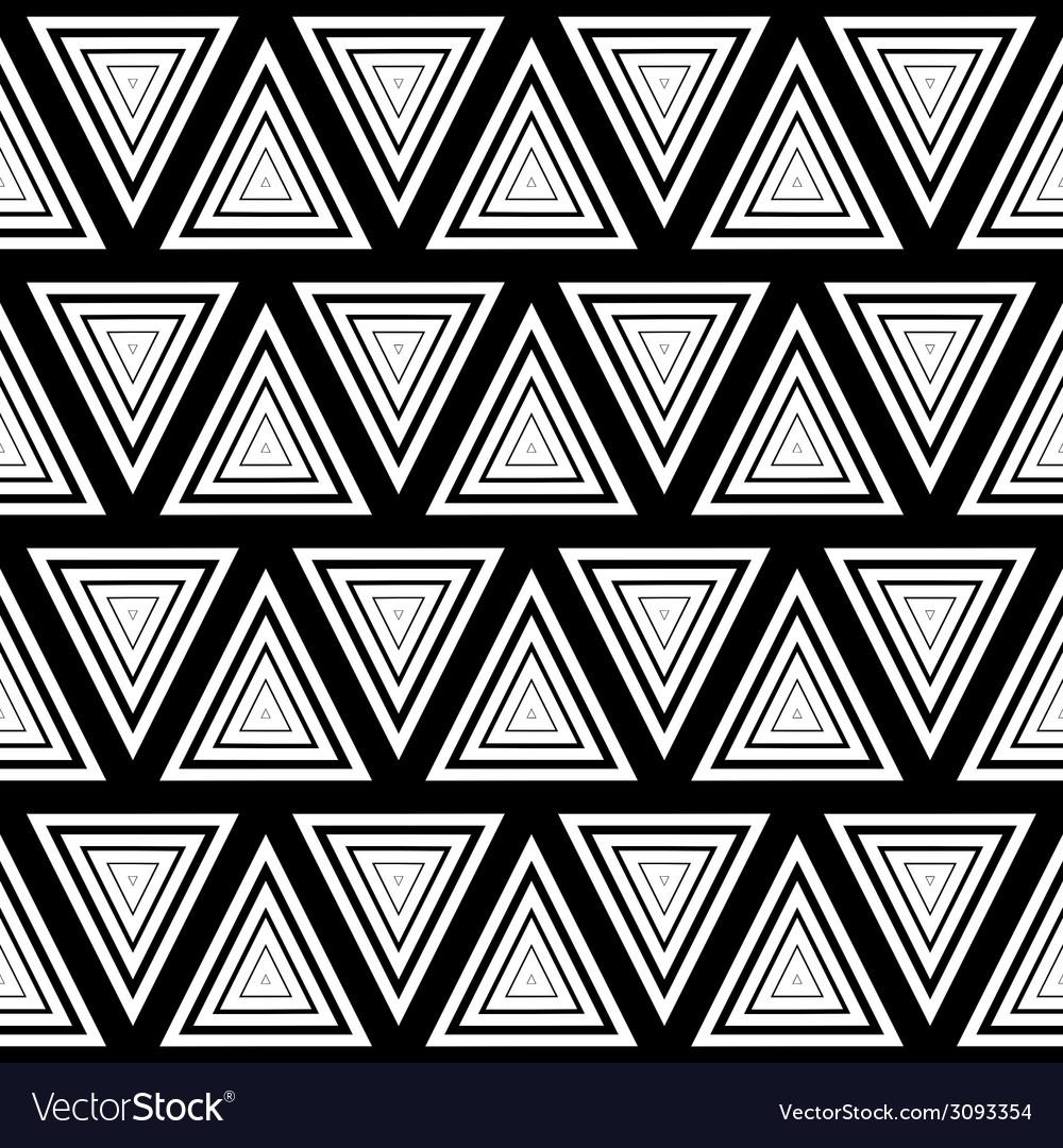 Seamless geometric black and white stripes