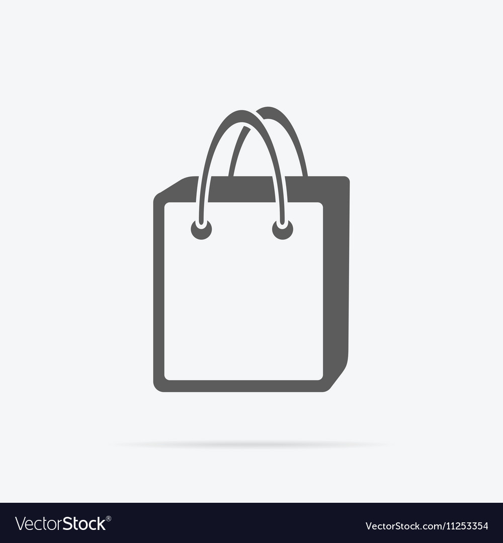 Simple Shopping Bag Icon Royalty Free Vector Image
