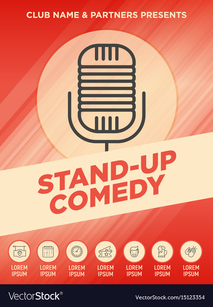 Stand up comedy show poster vector image