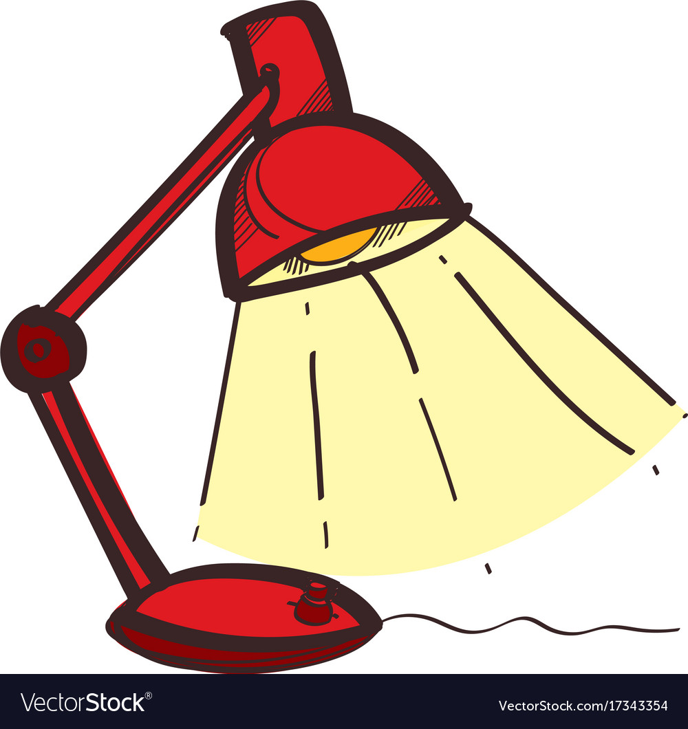 Table lamp in color of hand drawing style vector image aloadofball Choice Image