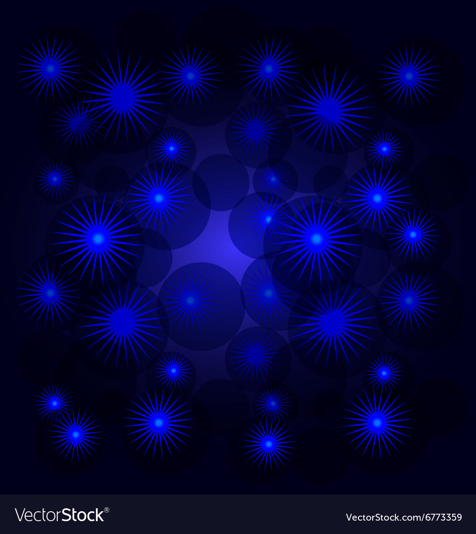 Abstract background with snowflakes and stars vector image