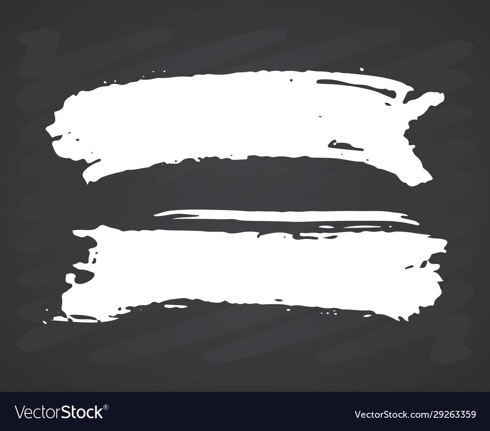 Brush strokes set hand drawn grunge texture on