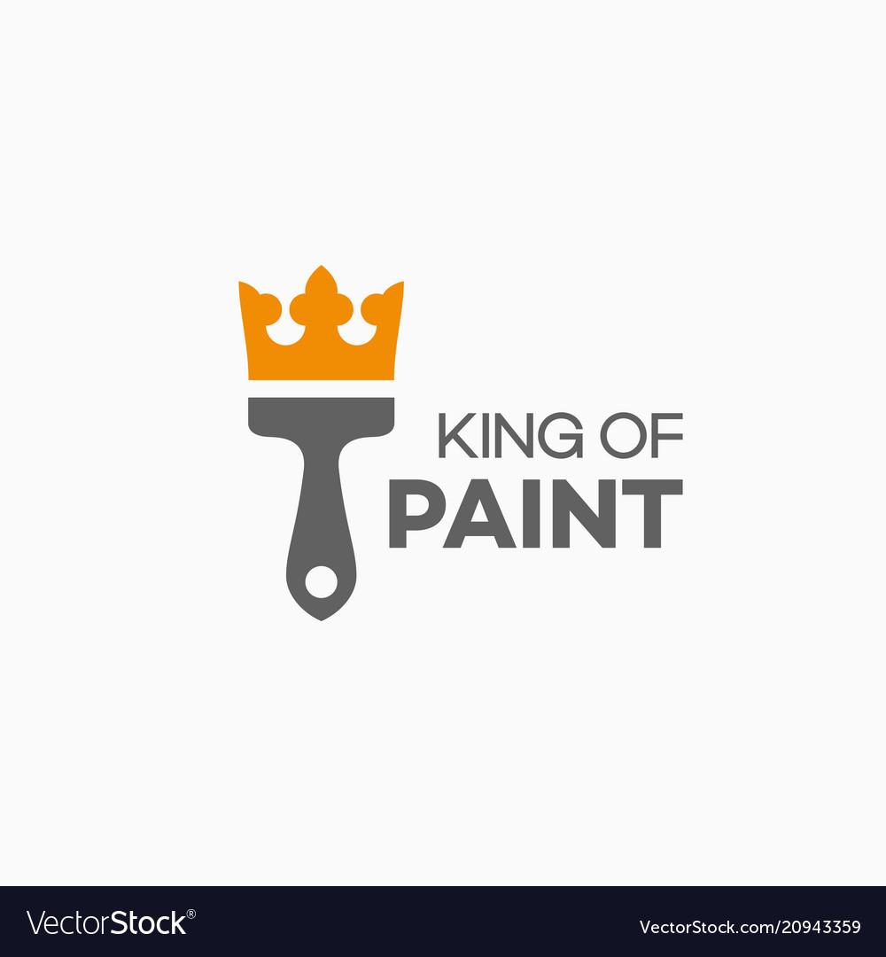 King of paint logo