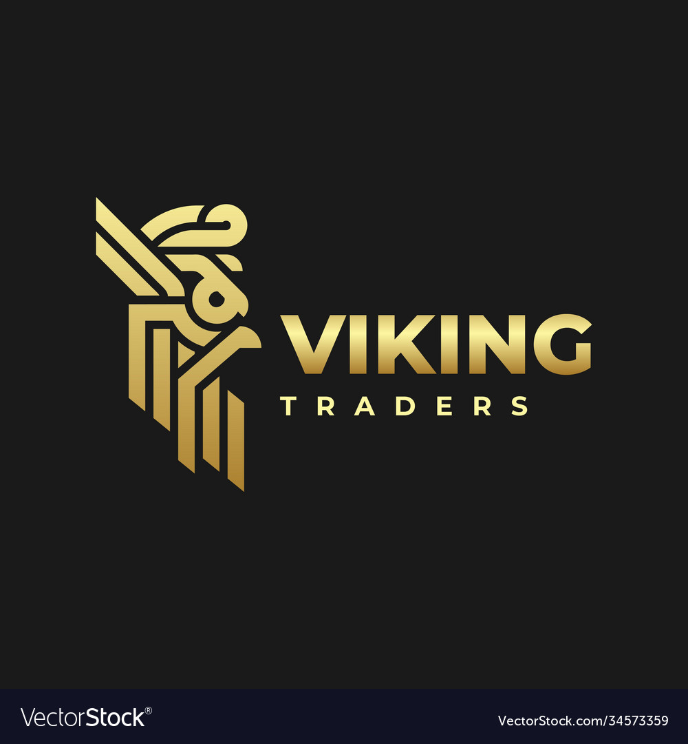 Logo viking gradient colorful style