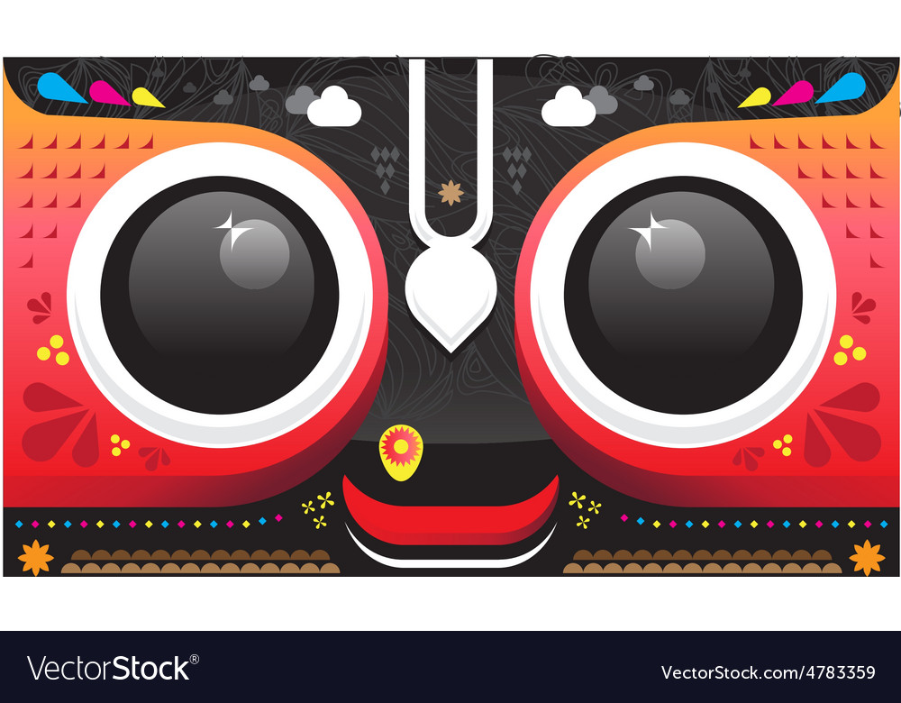 Lord Jagannath vector image